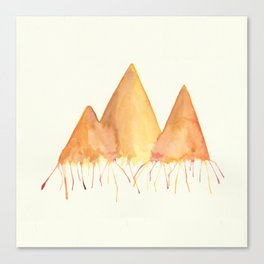Dripping Watercolor Mountains Canvas Print