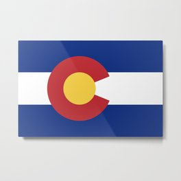 Flag of Colorado Metal Print