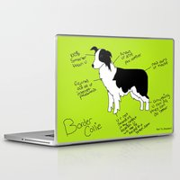 border collie Laptop & iPad Skins featuring Border Collie by Lindsay Beth