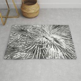 Tropical palm monochrome shapes Rug
