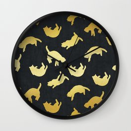 Modern art with gold IX Wall Clock