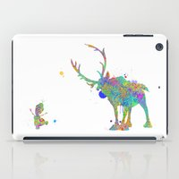 olaf iPad Cases featuring Olaf and Sven by AHDessins