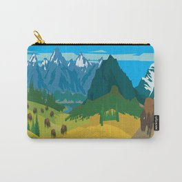 Land Of The American Natives No. 2 Carry-All Pouch