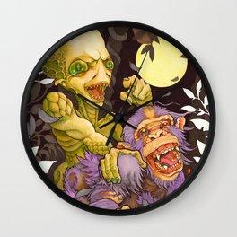 Alien & Ape (True Love) Wall Clock