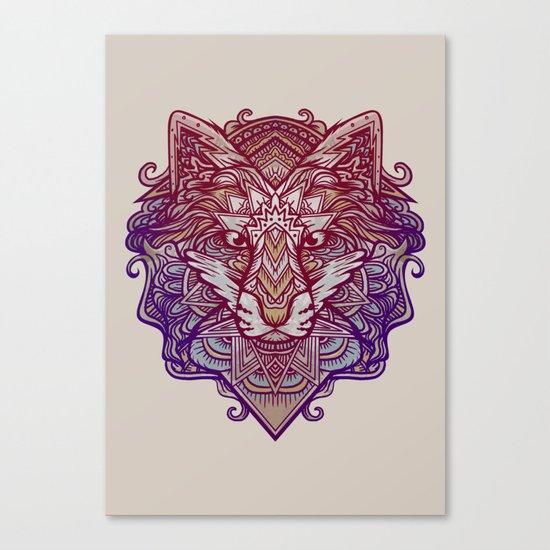 Wolf Ornament Canvas Print
