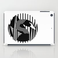 black swan iPad Cases featuring black swan by Gray