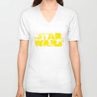 starwars V-neck T-shirts featuring StarWars  by WaXaVeJu