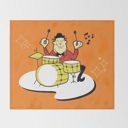 Vintage Drummer Throw Blanket