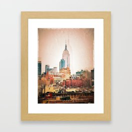 NYC Vintage style Framed Art Print
