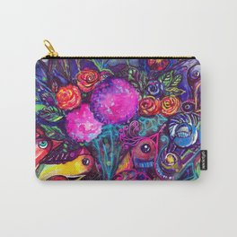CRAZY BIRDS AND CRAZY FLOWERS Carry-All Pouch