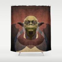 yoda Shower Curtains featuring Yoda by lazylaves
