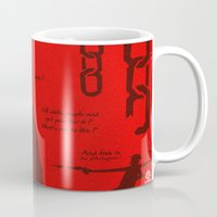 django Mugs featuring Vector Django Unchained by LoweakGraph
