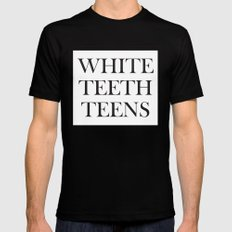 White teeth teens Black MEDIUM Mens Fitted Tee