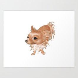 Suspicious Chihuahua Art Print