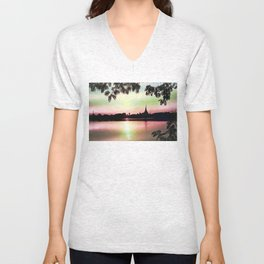 Pastel Sunset. Unisex V-Neck