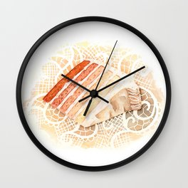 Ombre Cake Slice Wall Clock