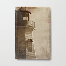 Sepia Light House Metal Print