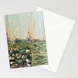 Green Algae - Mixed Media Ceramic Pebeo Glass Beads Abstract Modern Fine Art, 2015  Stationery Cards