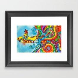 The Yellow Submarine Framed Art Print