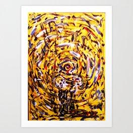 Fishead plays guitar Art Print