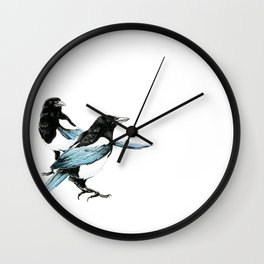 Magpie Dual Wall Clock
