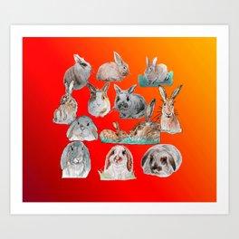 Bunny Mix Art Print