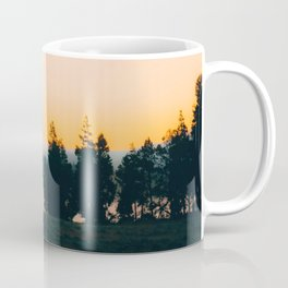 Elk in the Autumn Misty Morning Coffee Mug