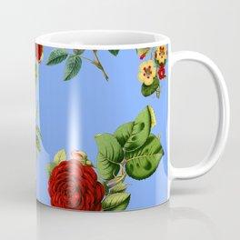 Blue vintage roses Coffee Mug