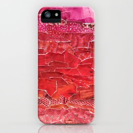 Red Ombre Collage iPhone Case