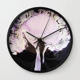 Purple Rorschach Test Wall Clock