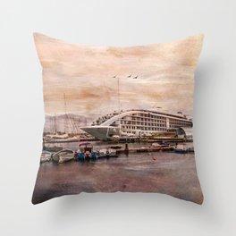 Sunborn Yacht Hotel, Gibraltar Throw Pillow