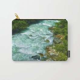 Here Be Bears - Black Bear and Wilderness River Carry-All Pouch