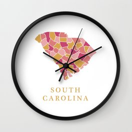 South Carolina map Wall Clock