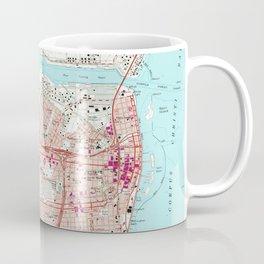 Vintage Map of Corpus Christi Texas (1968) Coffee Mug