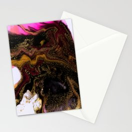 beautiful abstract art with fluid liquid paint Stationery Cards