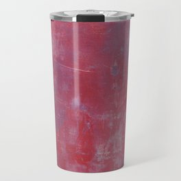 Lavender Blue and Red Abstract Travel Mug