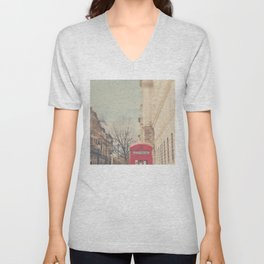 on a city street ...  Unisex V-Neck