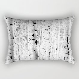 Black and White Aspens Rectangular Pillow