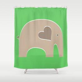 Green Safari Elephant Shower Curtain