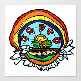 Rainbow Watchin Canvas Print