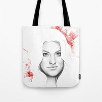 dexter Tote Bags featuring DEXTER by Olechka