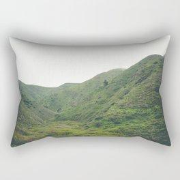 Green Mountains in California Rectangular Pillow
