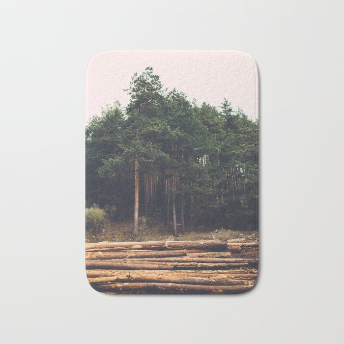 Sad timber industry Bath Mat