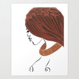 Natural Woman of Himba Art Print