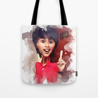 humor Tote Bags featuring humor by thinKING