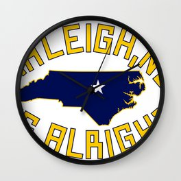 NC is Alright Wall Clock