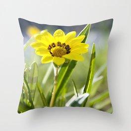 Beachside Flower Throw Pillow