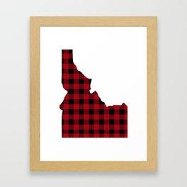 Idaho - Buffalo Plaid Framed Art Print
