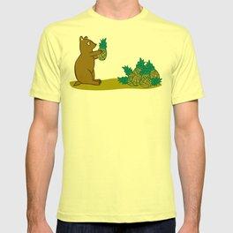 Pineapple Harvesting Bear T-shirt