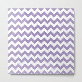 Lavender Chevron Print Metal Print